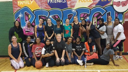 Team photo of ladies basketball