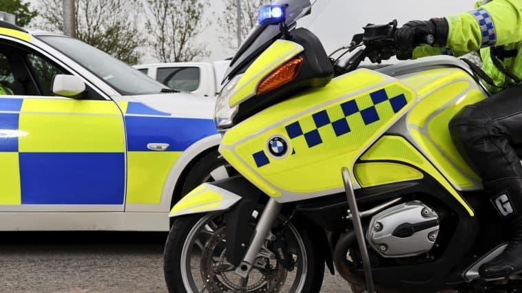Police bike and police car