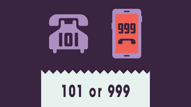 Call 101 or 999 logo