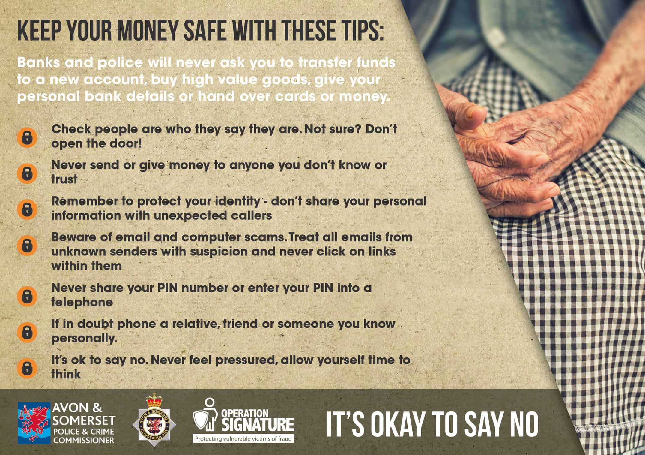 keep your money safe tips