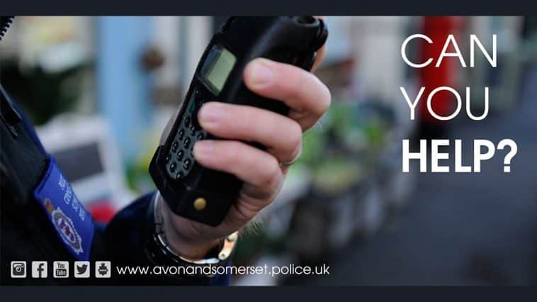 Can you help text on a photo of an officer holding a radio