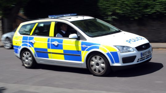 Marked police car