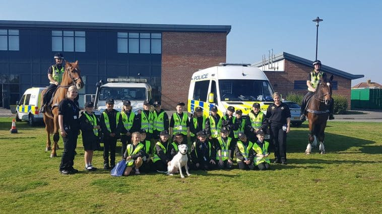 Mini Police launched in Weston-Super-Mare yesterday at Bourneville primary