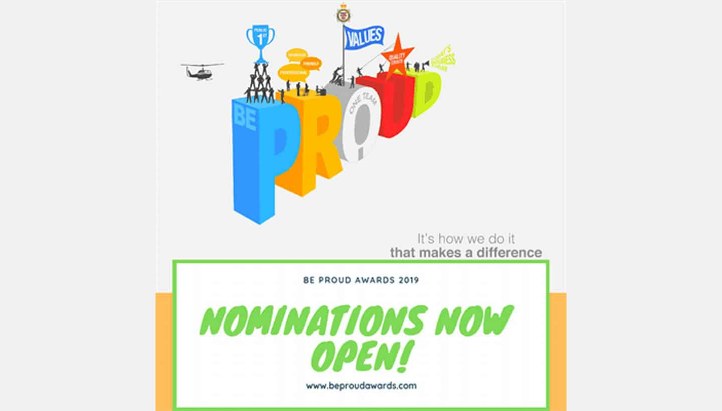 Be Proud Awards 2019 Nominations now open