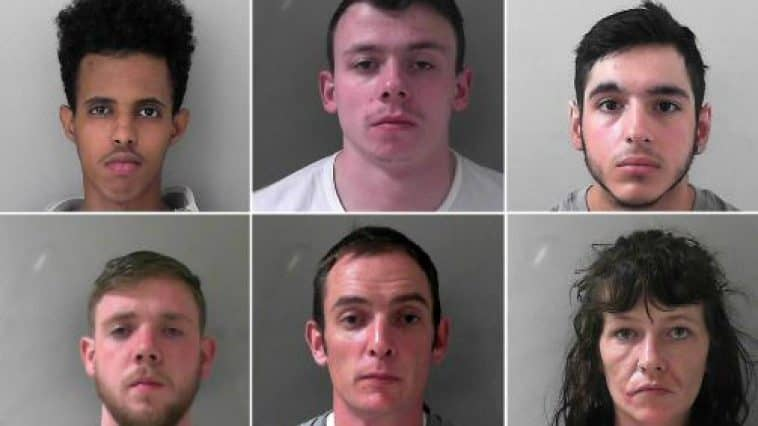 Six people were convicted of conspiracy to supply class A drugs offences.