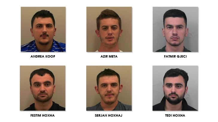 Six jailed after drugs, cash and false IDs seized during police investigation