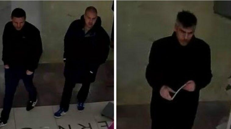 CCTV image of three men