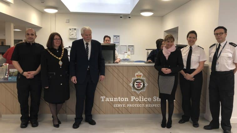 The official opening of Taunton police station.