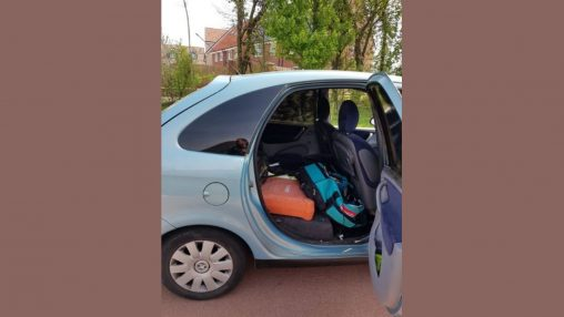 A number of tools have been recovered from this Citroen Picasso which was stopped by officers on Coldharbour Lane in Stoke Gifford