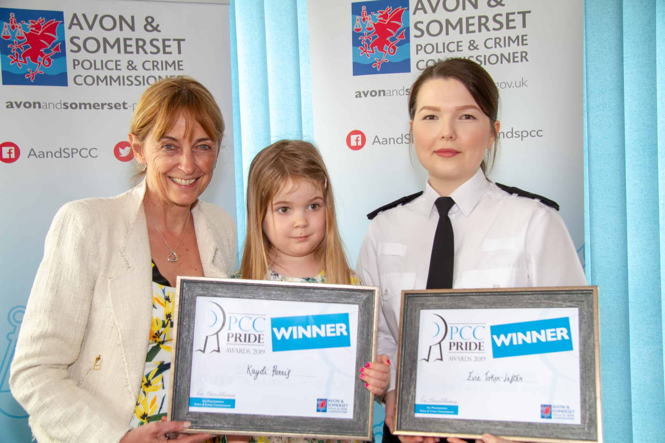 Four-year-old who helped save her mum's life recognised at Pride Awards