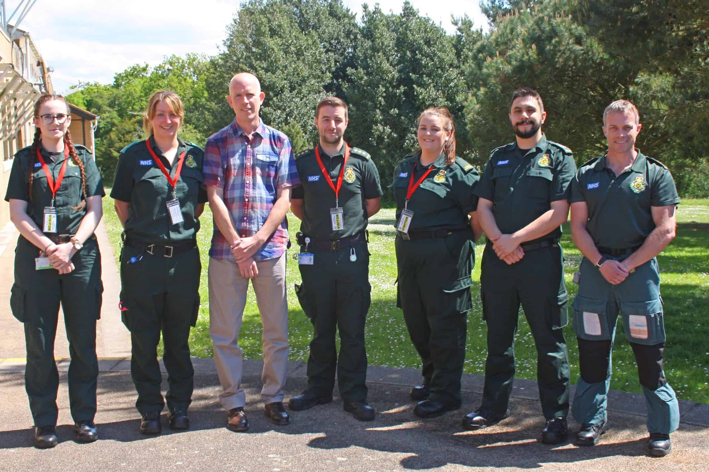 Ben Perrin with South Western Ambulance Service NHS Foundation Trust Copyright SWASFT)