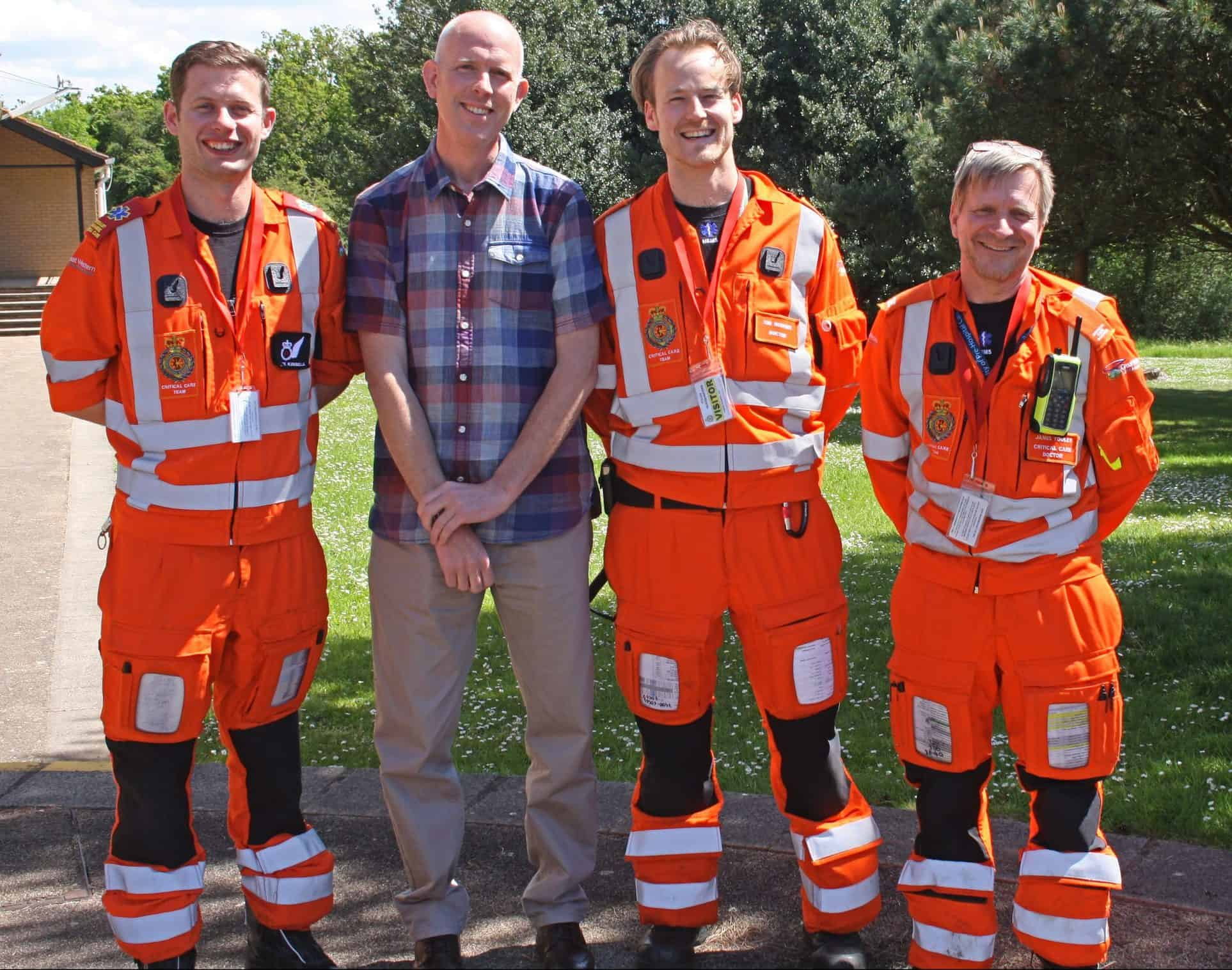 Ben with the air ambulance critical care team