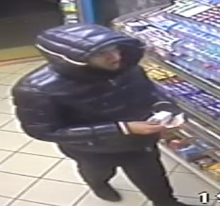 CCTV image of a man police would like to trace