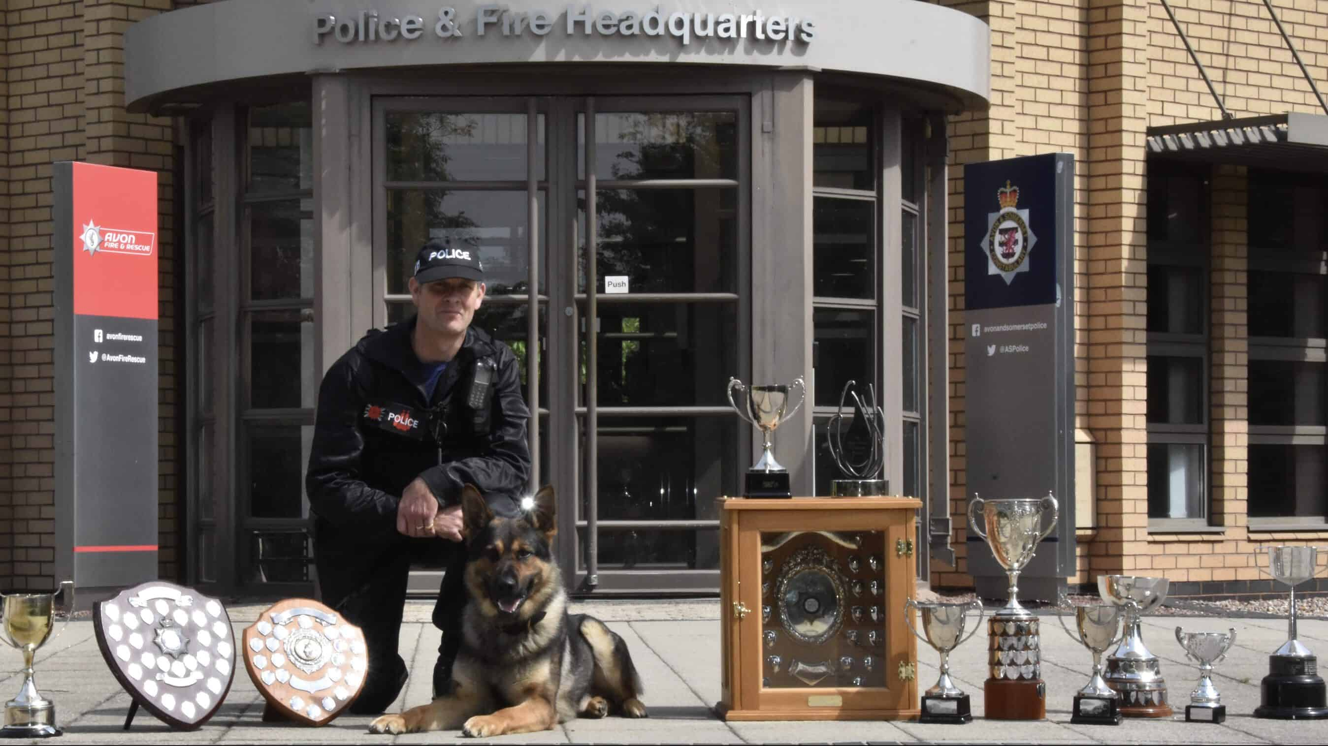 Top Dog – PD Ash and handler Nick Dalrymple are national champions