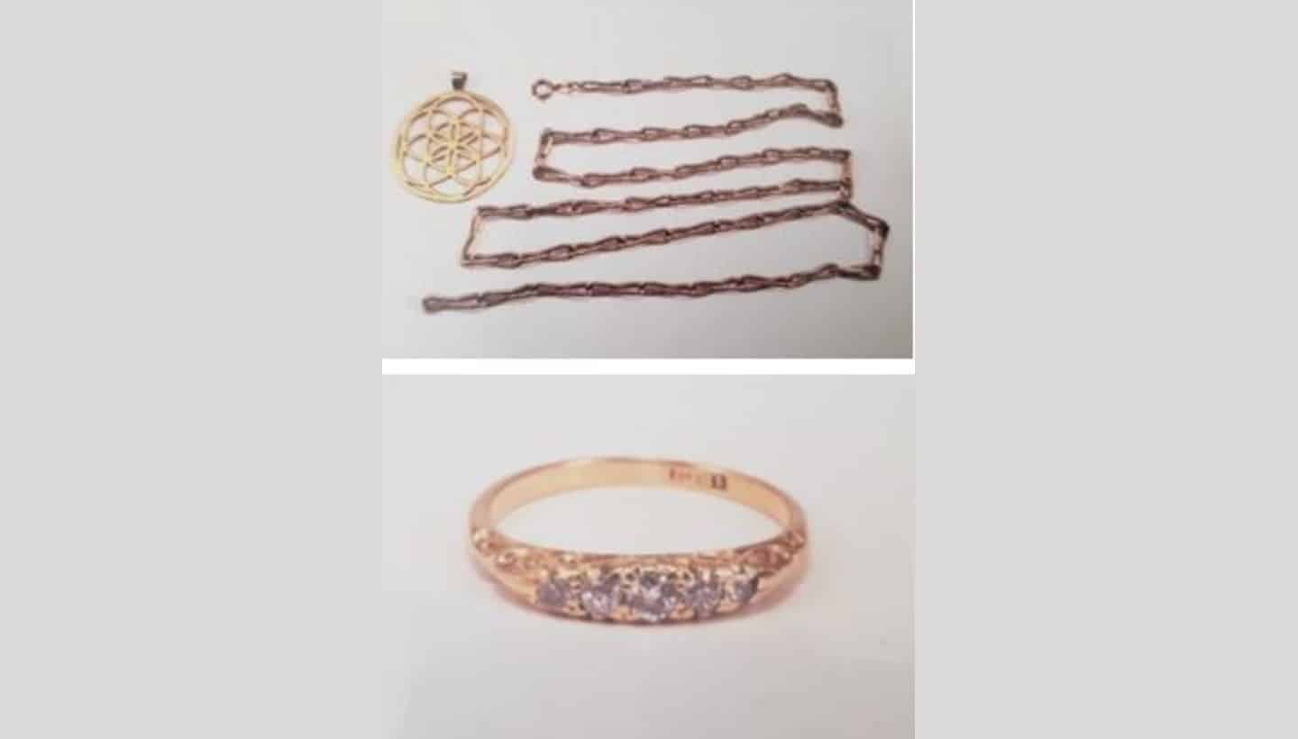 Appeal to help find jewellery stolen from property in Glastonbury