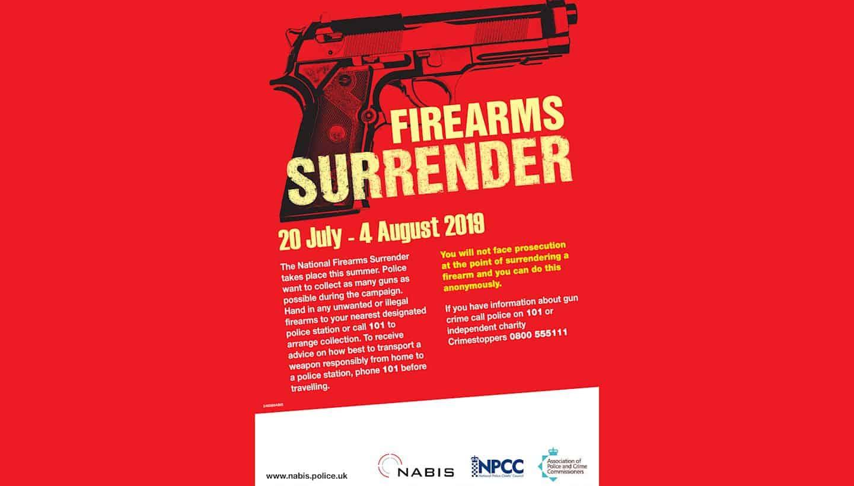 Summer firearms surrender starts