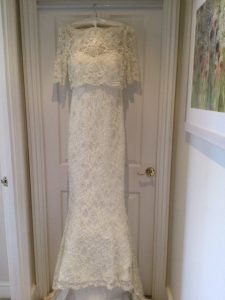 The wedding dress Carolyn Woods bought thinking she would marry Acklom