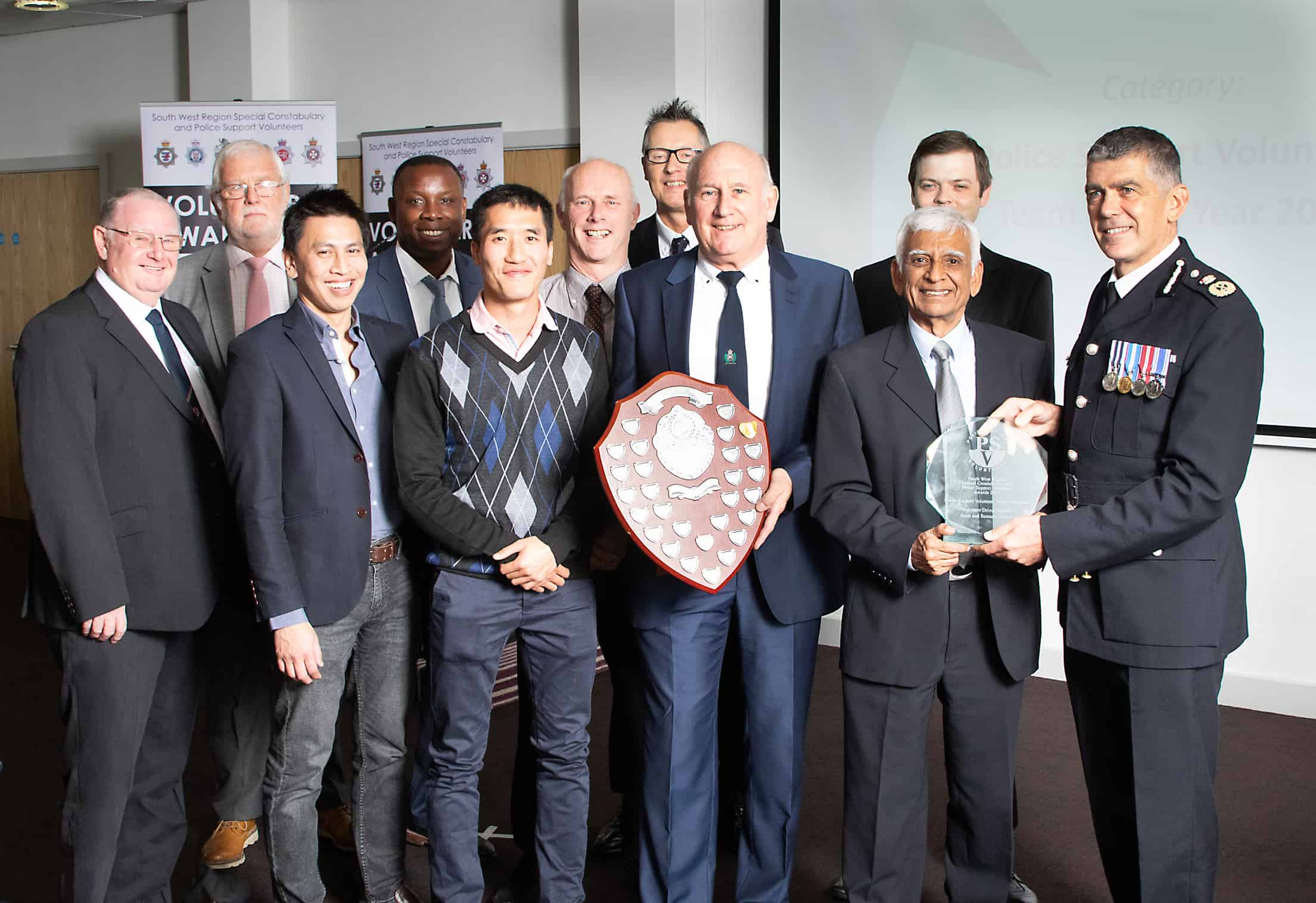 Police volunteers celebrated at South West Region Special Constabulary and Police Support Volunteer Awards 2019