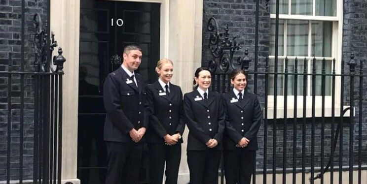 Brave officers visit Downing Street