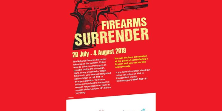 Firearms surrender poster