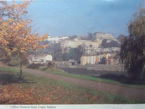 A postcard of Clifton Terraces from Bower Ashton.