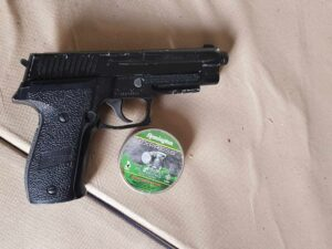 An air pistol was seized