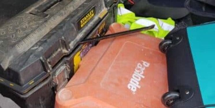 We'd like to reunite a Paslode Impulse Im350+ nail gun in an orange case with its rightful owner