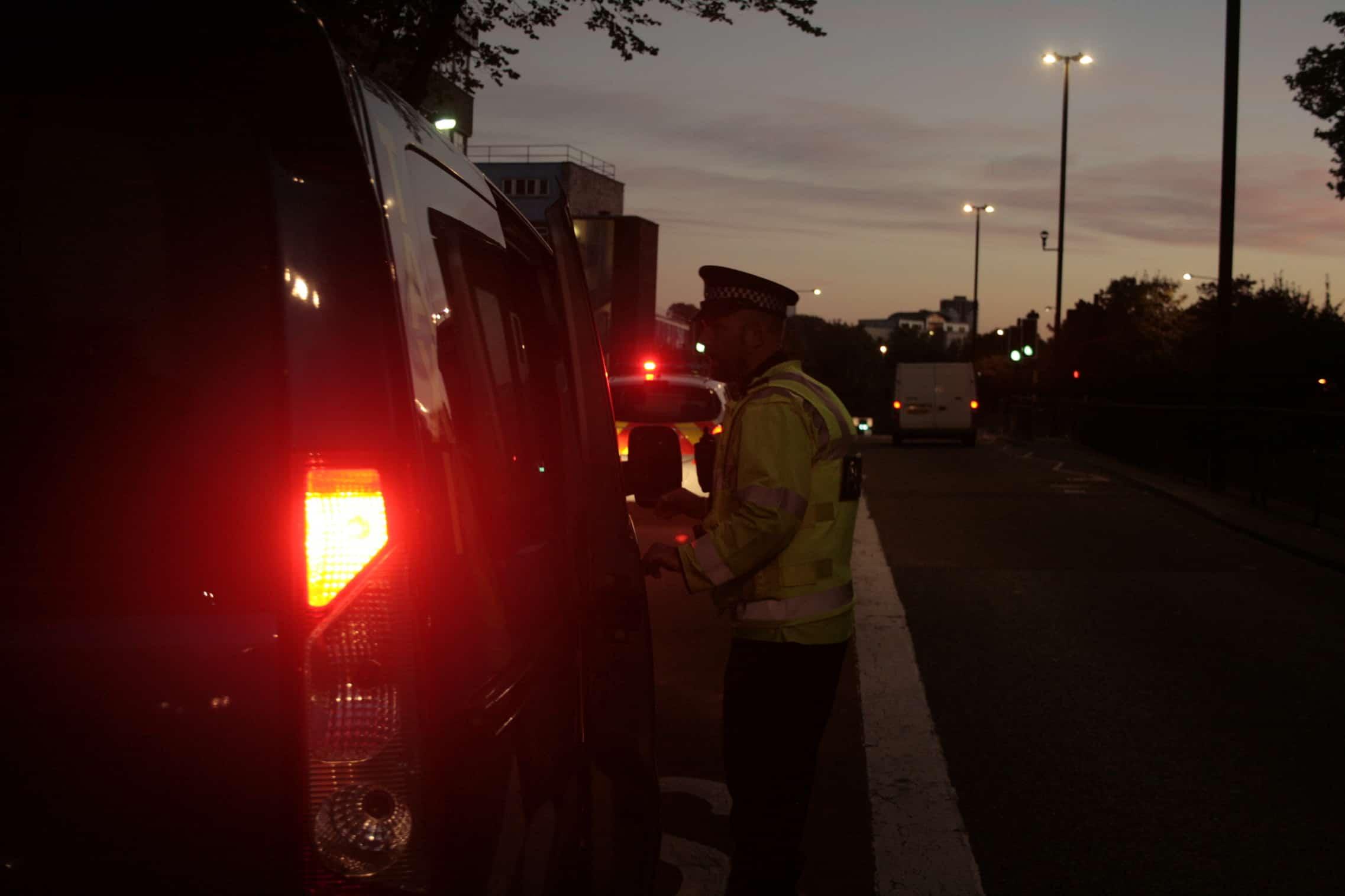 PC Patrick Quinton on patrol in Bristol cicty centre