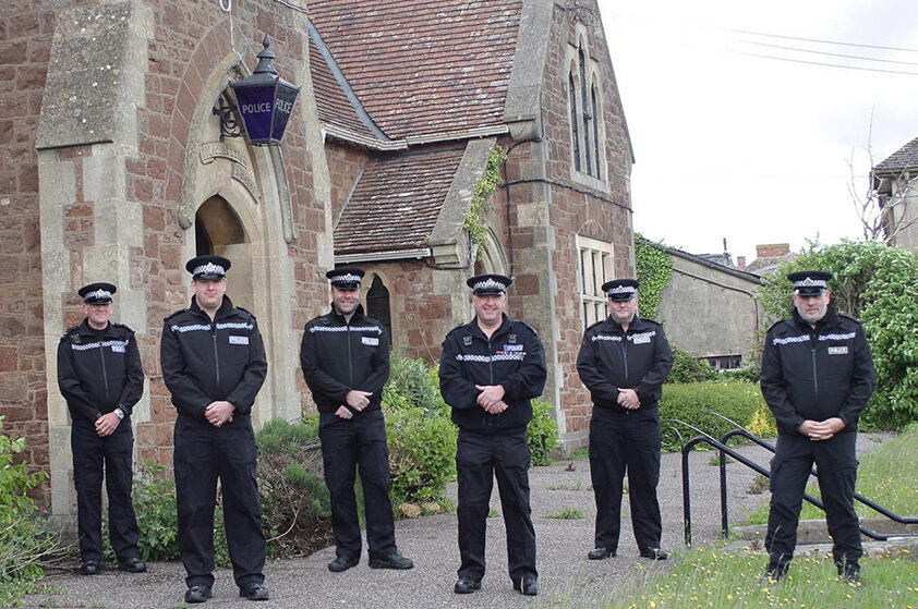 Special Constables at Williton police station