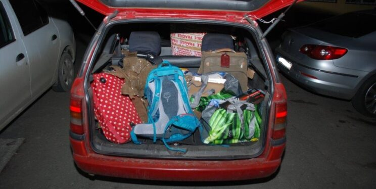 The car stopped by Romanian officers in February was full of stolen items.