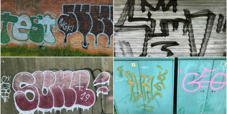 Examples of graffiti in Nailsea
