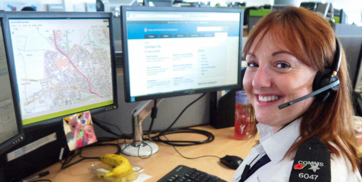 Communications staff member at Avon and Somerset Police