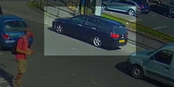 CCTV image of car