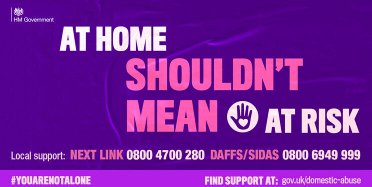 A picture of the At Home Shouldn't Mean at Risk Poster