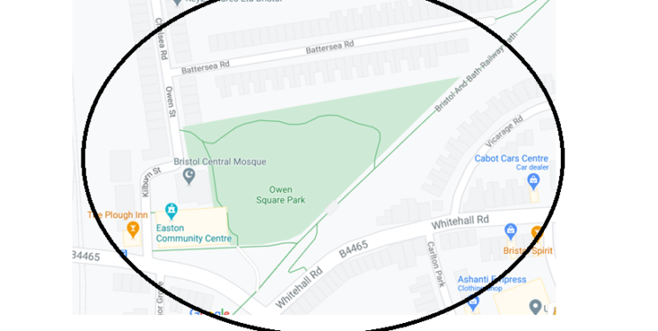 Dispersal Map (Owen Square Park Area)