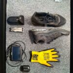 A picture of various stolen goods.