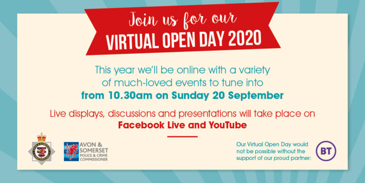 A graphic giving details of our Virtual Open Day 2020