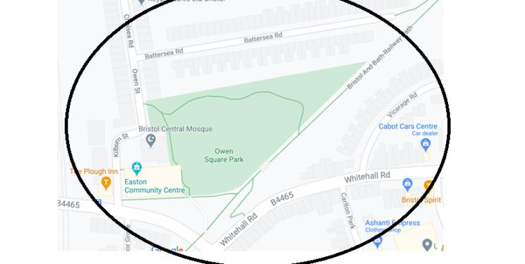 Dispersal Map (Owen Square Park Area)