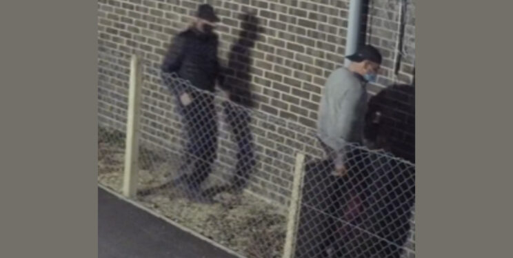 CCTV of two men at Lynx Trading Estate