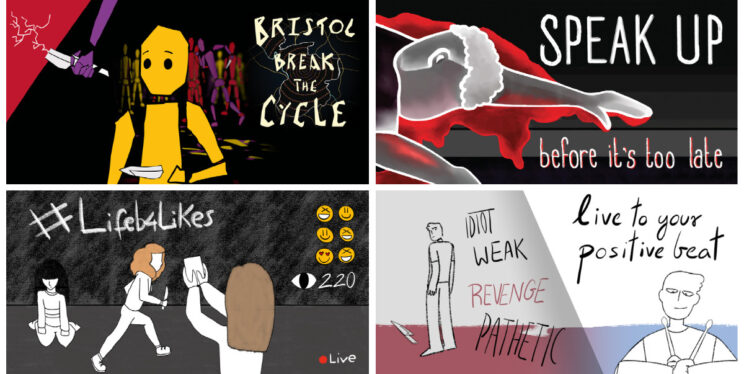 Images from our knife crime animation project