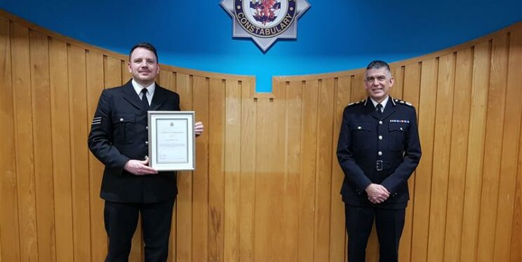 Sgt Chris Wright and Chief Constable