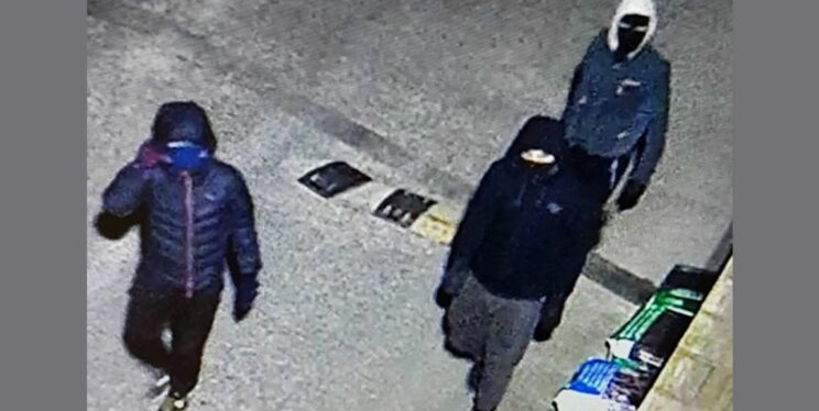 CCTV image of three people