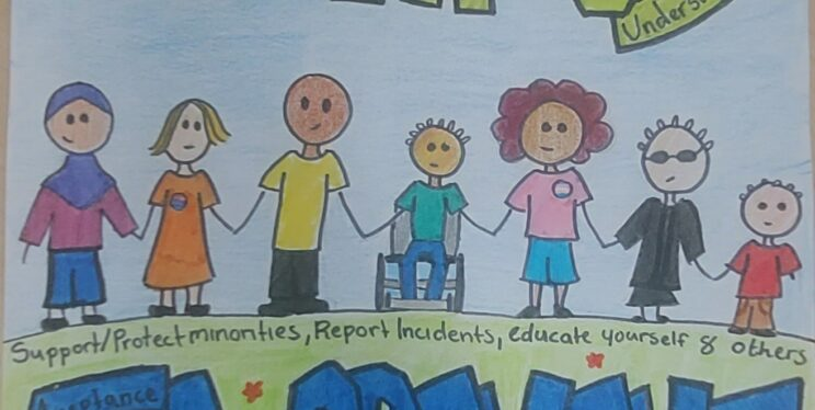 Hate crime poster designed by a year 7 student at City Academy Bristol
